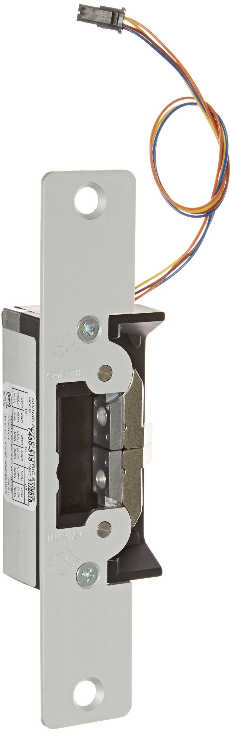 Adams Rite 7430 Series Clear Anodized Zinc Aluminum Alloy UltraLine Electric Strike (Pack of 1)