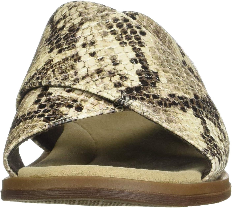 Women/'s Shoes Clarks DECLAN IVY Slide Cross Sandals 50054 PEWTER METALLIC