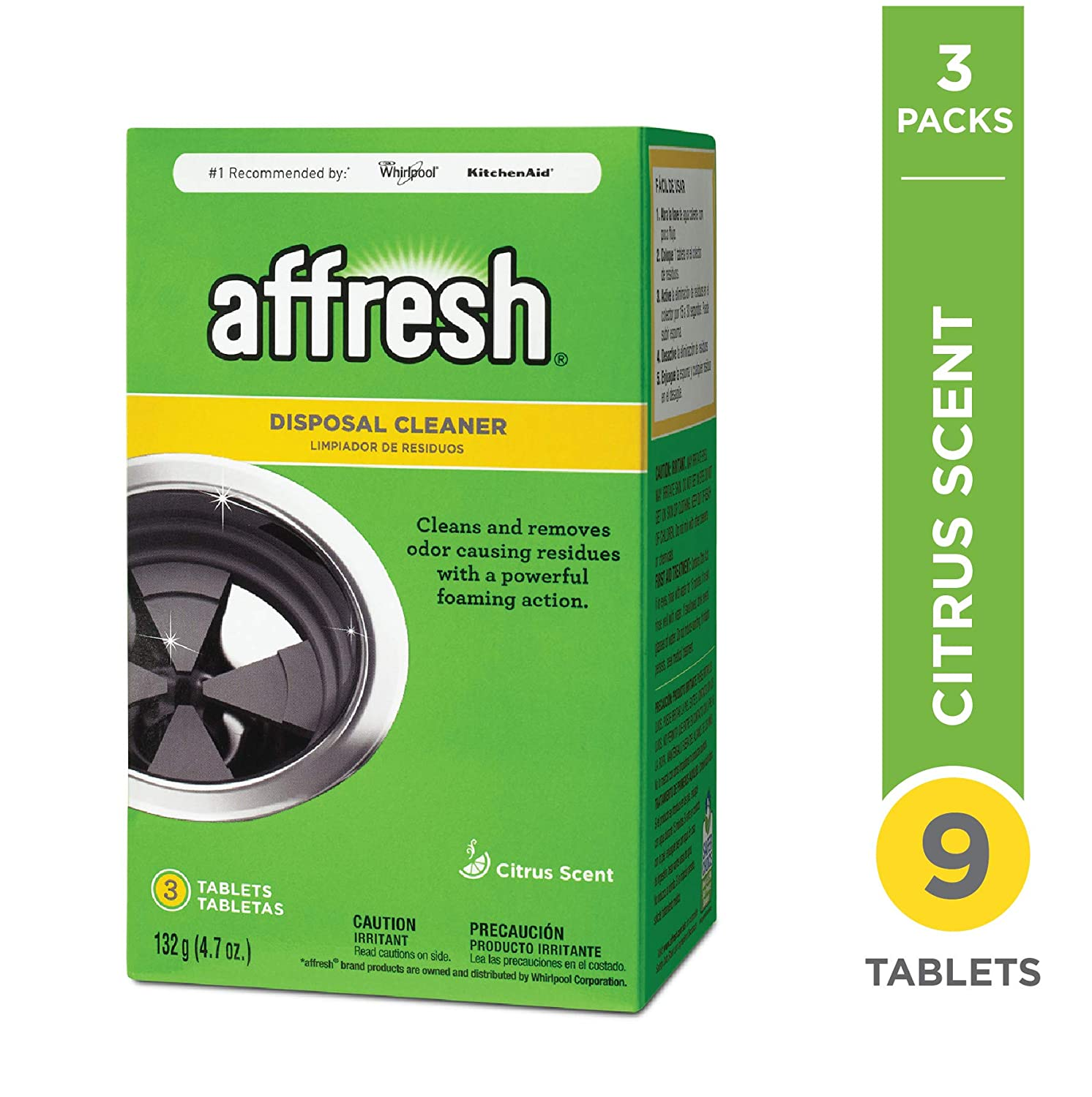 Affresh W10509526M3 Disposal Cleaner 3 Pack