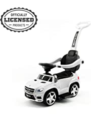 Mercedes-AMG GL63 Push Car, Official Licensed Mercedes-Benz AMG GL63 4-in-1 Baby Push Pedal Ride-On Car with Push Bar, Leather Seat, Foot Rest, Full LED Lighting, MP3 and Rocking Chair Rails