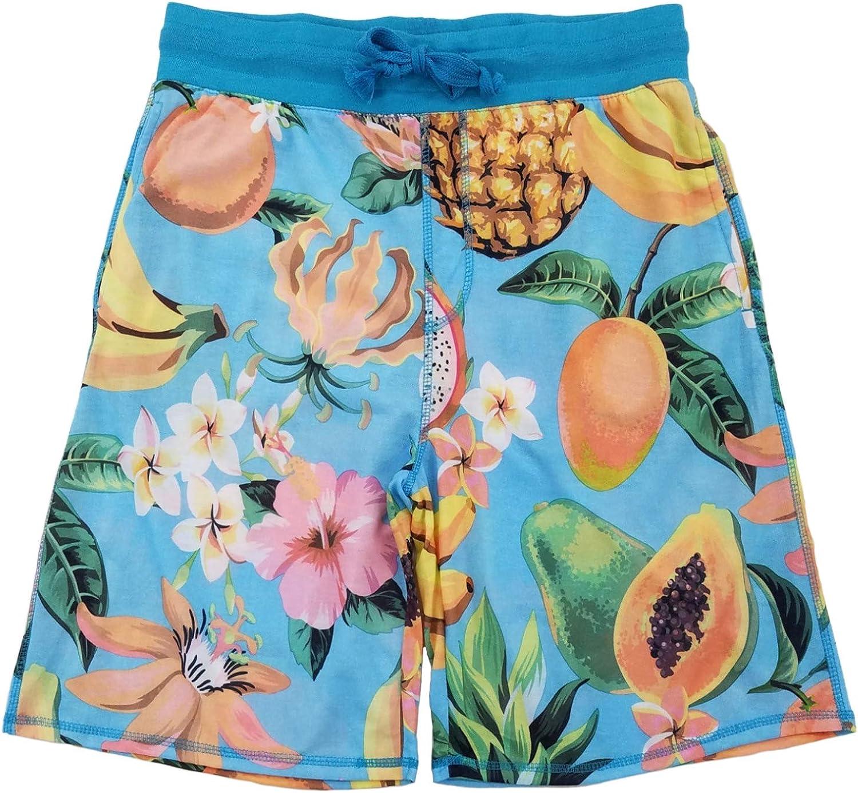 Fruit Print Blue Sleep Lounge Jam Shorts