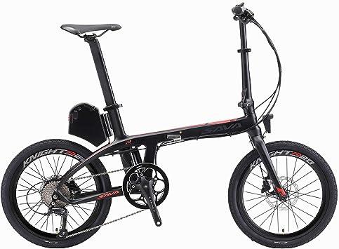 SAVADECK E6 - Bicicleta eléctrica plegable de carbono, 20 pulgadas ...