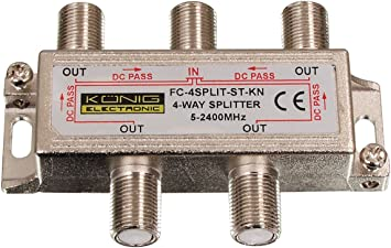 De rey Digital 4-antena TV BK distribuidor de cable de antena ...
