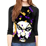 Stevie Wonder Design Women Baseball T Shirts 3//4 Sleeve Raglan Blouse Tee Tops