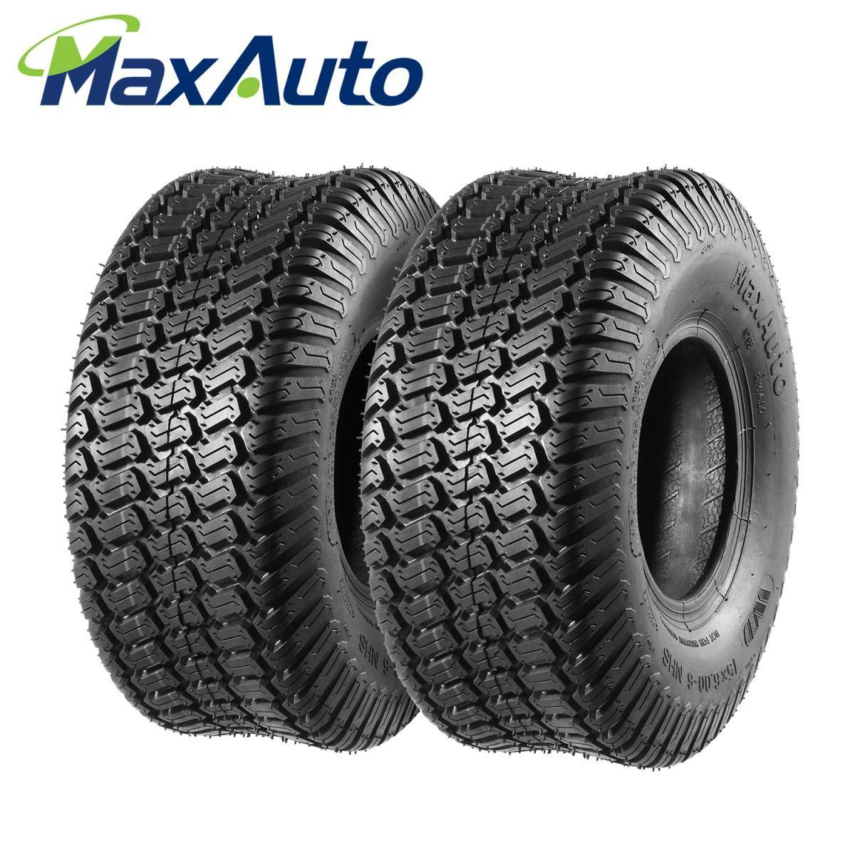 Set of 2 15x6.00-6 15x6x6 15-6-6 Turf Tires for John Deere Tractor Riding Mover Lawn /& Garden Tire 4 Ply