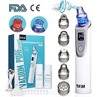 Y.F.M Limpiador de Poros 5 en 1, Eliminador de Puntos Negros, Espinillas y Acné - 2 Modos de Cuidado de Piel, Antiinflamatorios y Poros Reducidos, 3 Niveles de Succión Ajustables