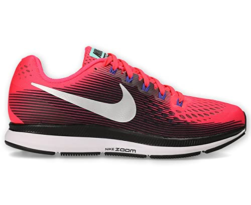 f0dc395070eb Image Unavailable. Nike Women s Air Zoom Pegasus 34 Shoe Solar Red Metallic  Silver