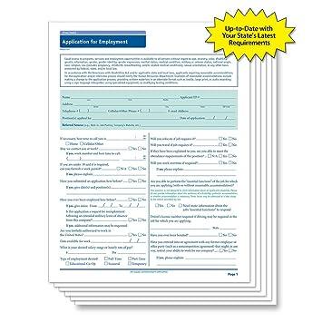 amazon com complyright texas employment application 50 pk