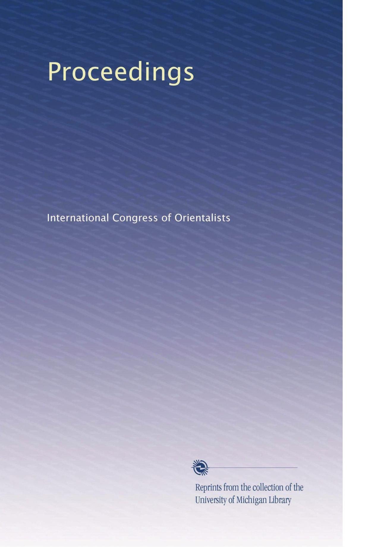 Read Online Proceedings ebook