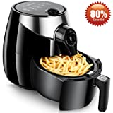 Aobosi Electric Air Fryer Oil Free Healthier Cooker 3.6 liter 80% Less Fat Healthy Multi Airfryer Cooker Oil Free Frying with Dual Dial Timer & Temperature Controls,Free Recipe Book Included