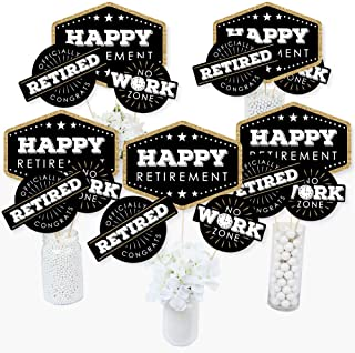 product image for Happy Retirement - Retirement Party Centerpiece Sticks - Table Toppers - Set of 15