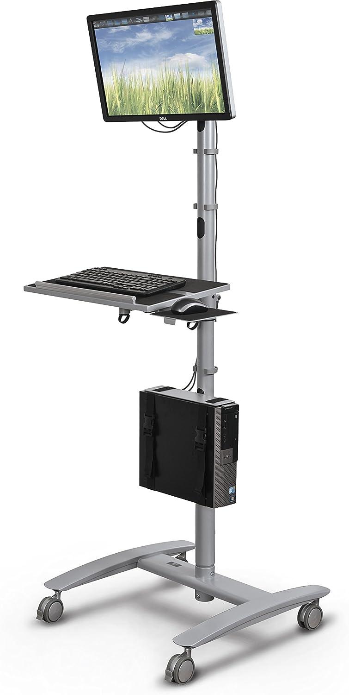 "Balt 27614 Beta Sit Stand Mobile Workstation Cart, 67"" H x 32"" W x 33"" D"