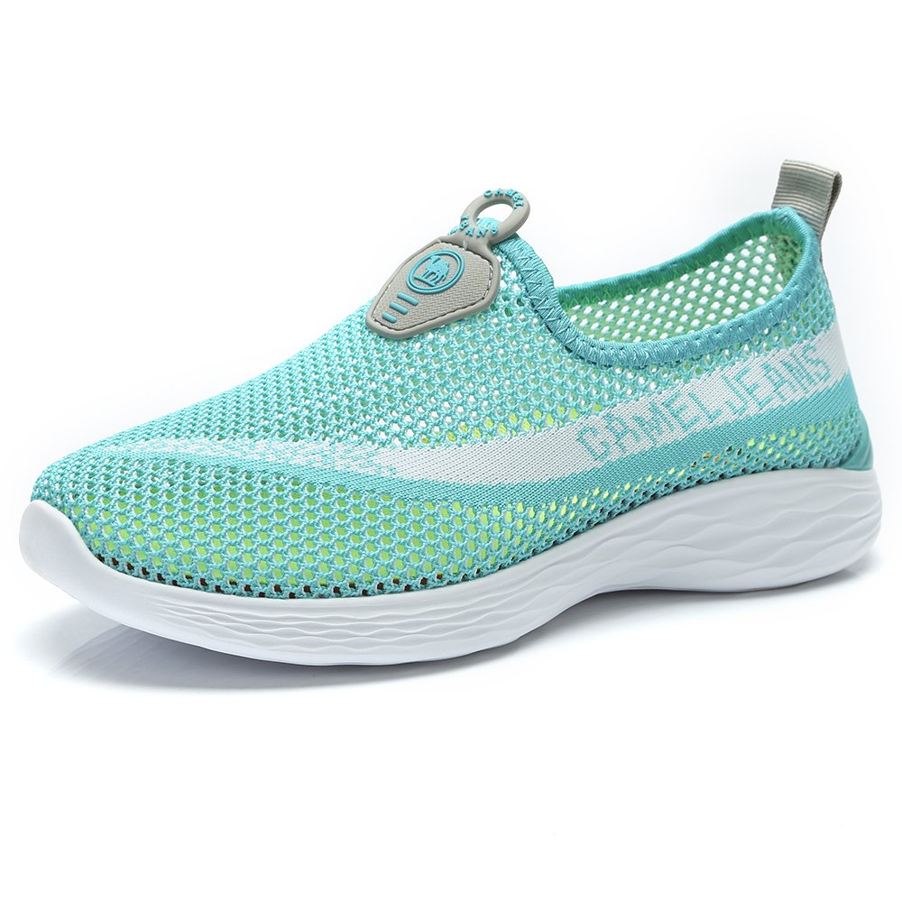 Camel Breathable Sneakers Mesh Shoes Women Casual Slip on Shoes Lightweight Walking Shoes Womens Memory Foam Sneakers Summer Blue 6.5 B(M) US