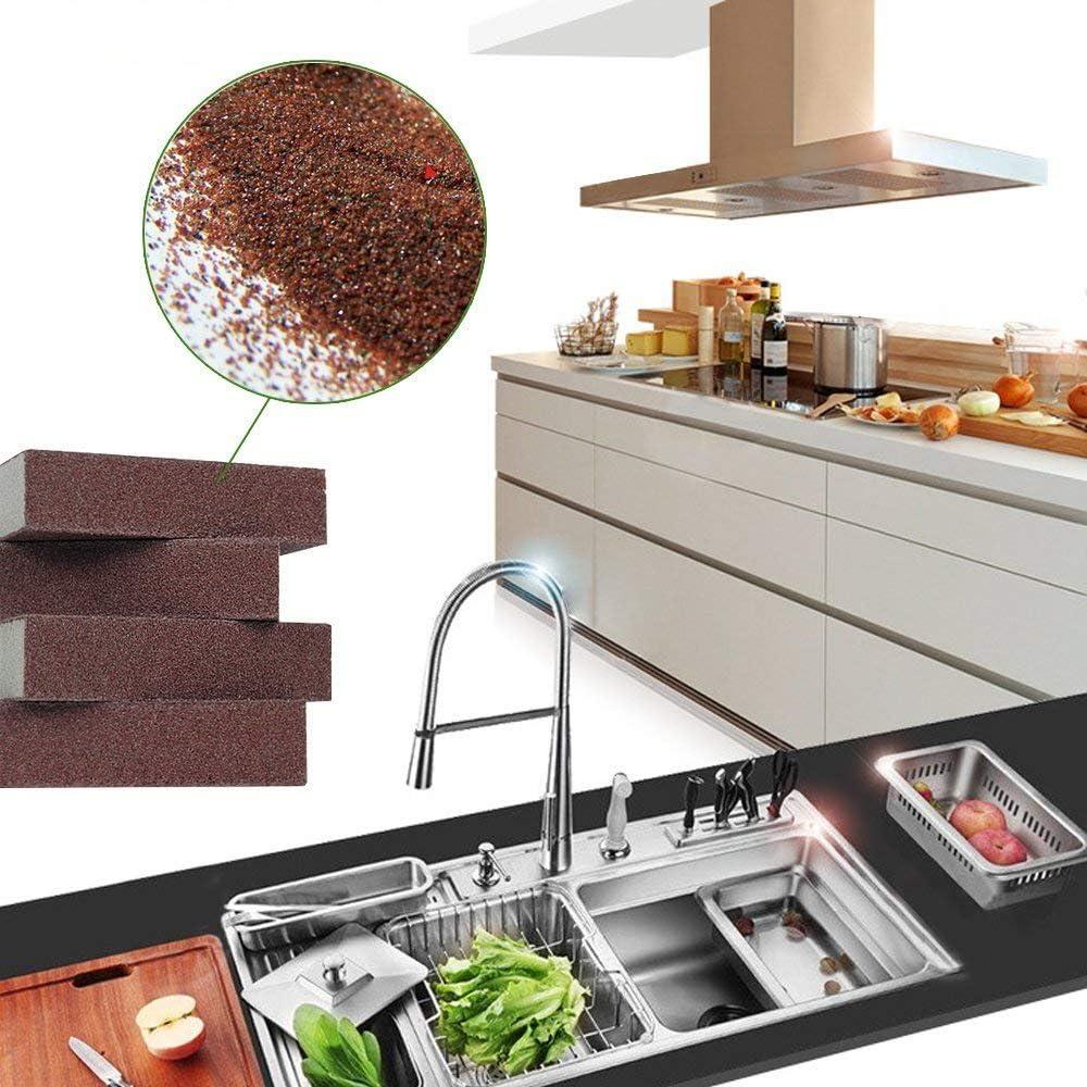 10 piezas Wacemak1r Esponjas de catering estropajos herramientas para cocinas ba/ños limpieza de servicio