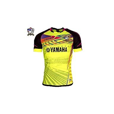 Camiseta 90 Minute Yamaha de la equipación de fútbol de Tailandia, color amarillo flúor amarillo small : Amazon.es: Ropa y accesorios