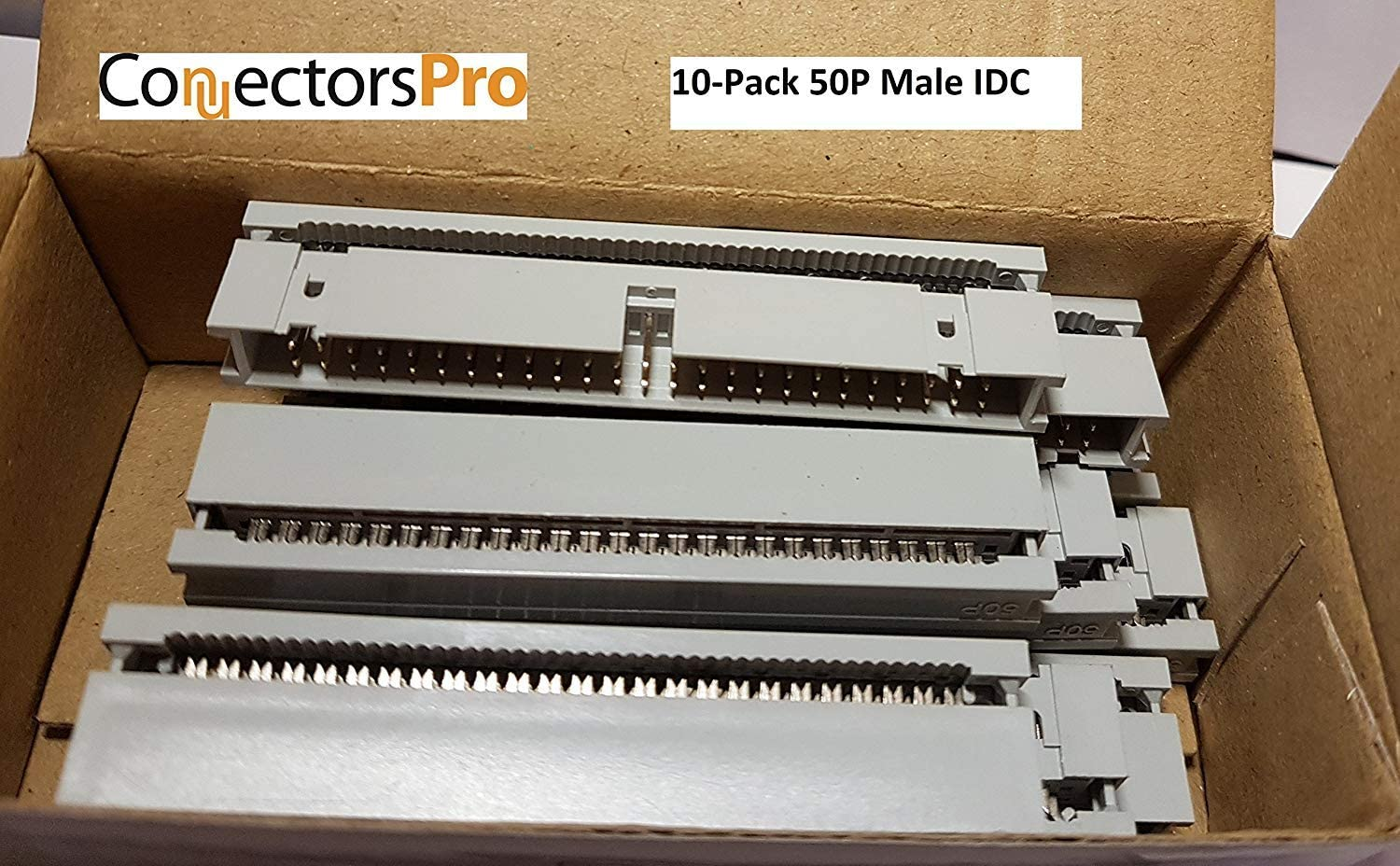 50 Pins Connector Connectors Pro 10-Pack 2X25 50P Dual Rows 2.54mm Shrouded IDC Male Header
