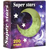 Glow in the Dark Star Stickers Decal | 1 Pack of 200pcs | Home Wall Glow Planets | Supernova Baby Kids Room