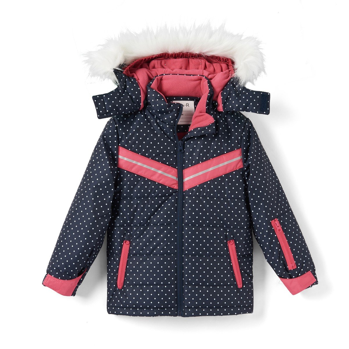 La Redoute Collections Big Girls Polka Dot Padded Parka, 3-16 Years Other Size 8 Years - 49 In.