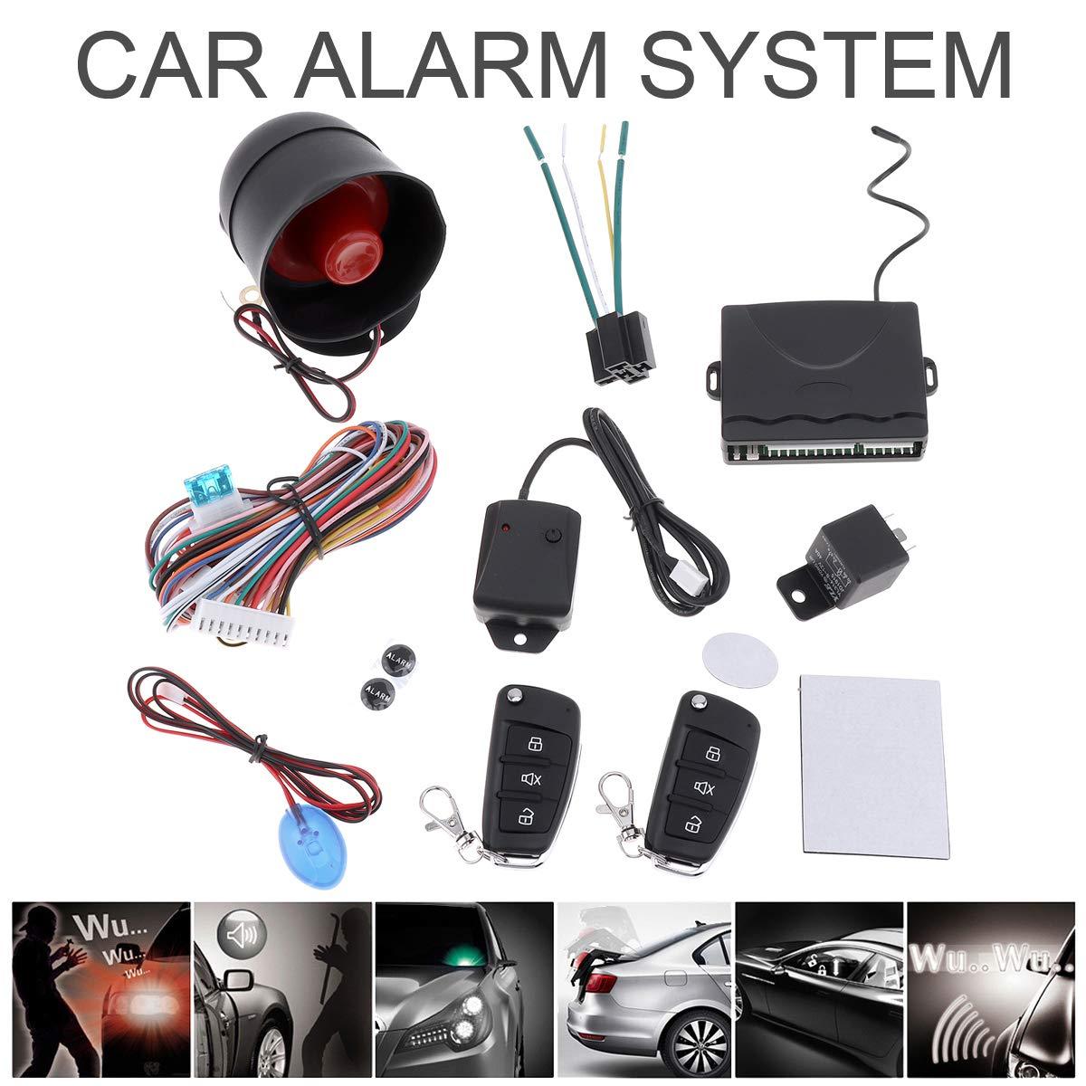 Universal 12V Auto Car Alarm Keyless Entry System Remote Control Siren Sensor ePathChina