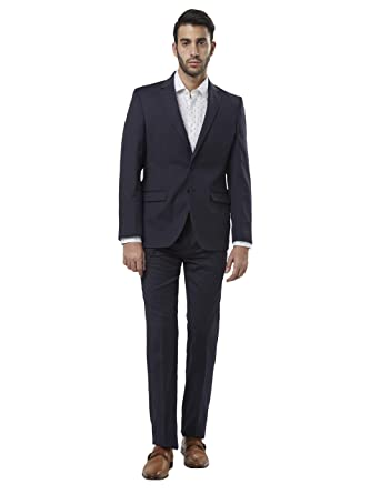 Raymond Men's Notch Lapel Regular Fit Suit Men's Suits & Blazers at amazon