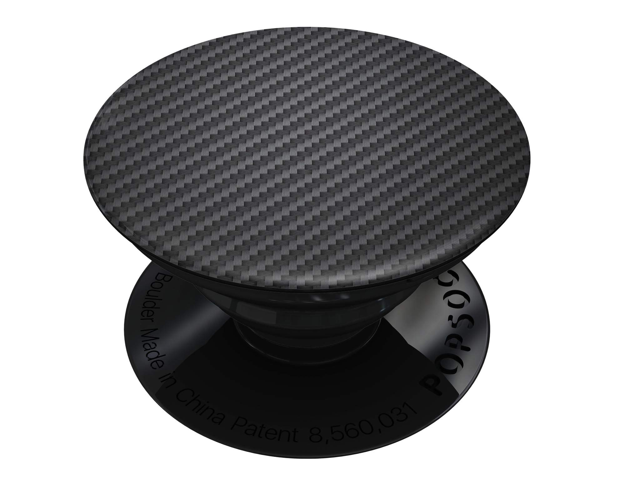 Carbon Fiber Texture - DesignSkinz Premium Decal Sticker Skin-Kit for PopSockets Smartphone Extendable Grip & Stand