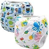 cb51071ea Storeofbaby Pañales de natación reutilizables nappy pañales de baño para  niños niñas 0-3…