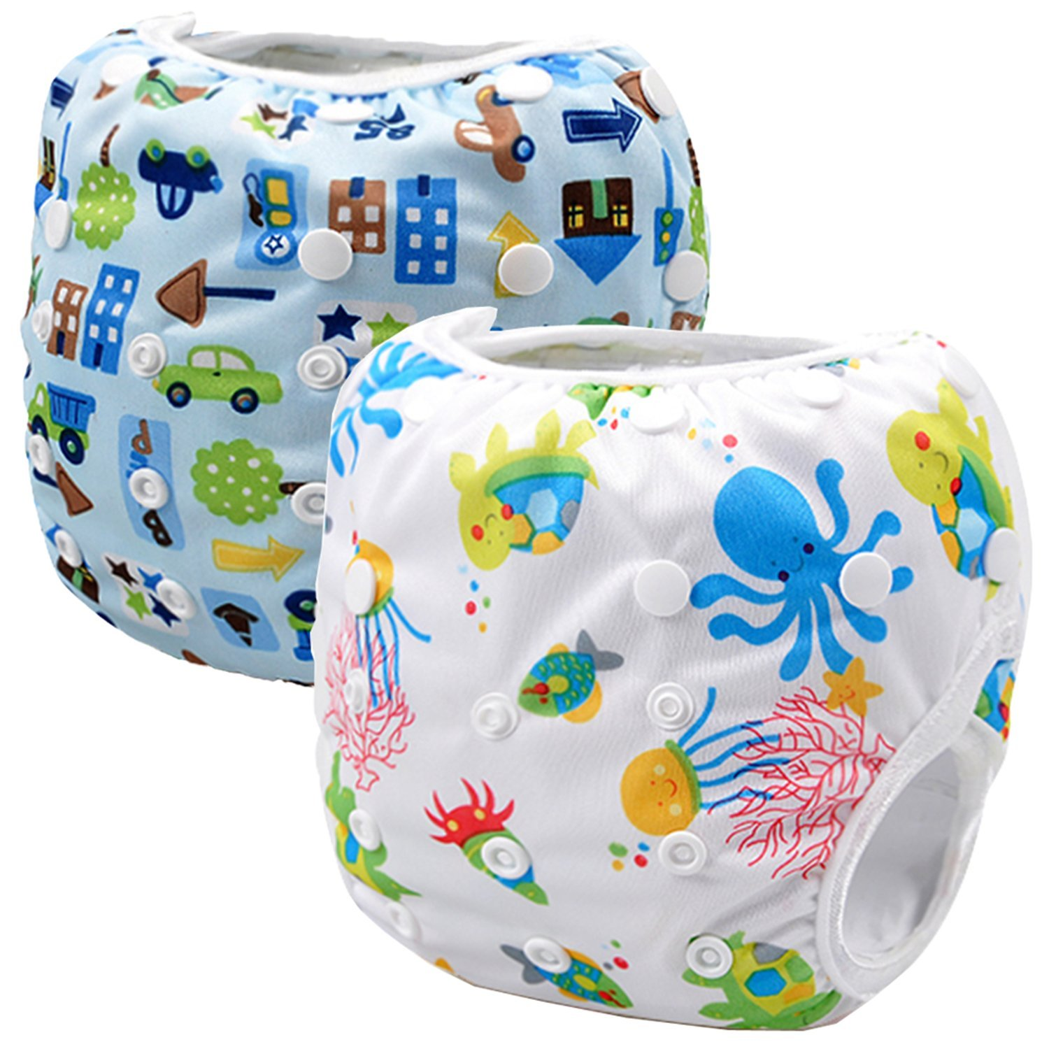Storeofbaby Swim Diapers Reusable Waterproof Nappies with Adjustable Snaps 0-36 Months Swimpant_75_76_EU