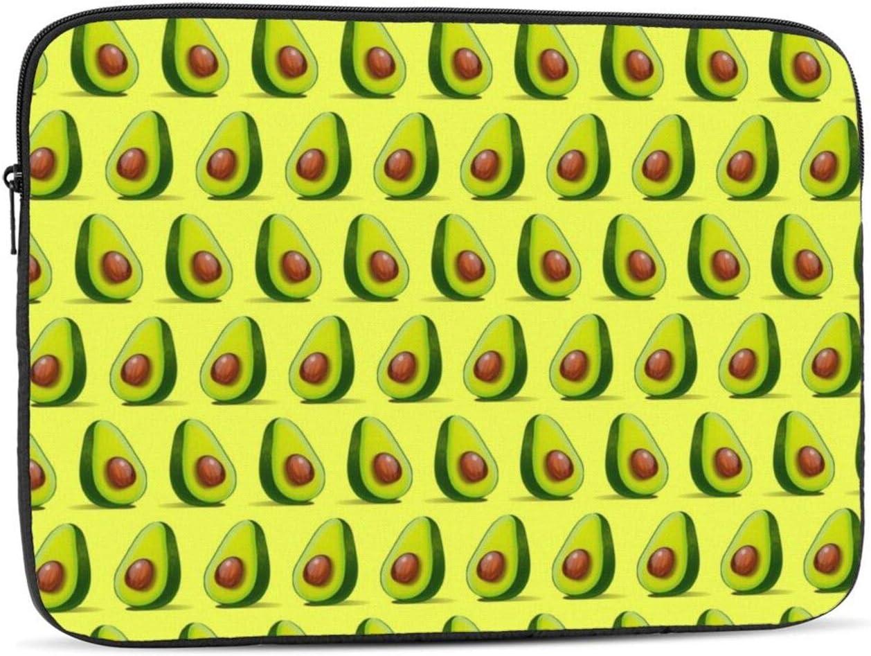 Cute Food Avocado Vegan Protective Laptop Case,Laptop Case Bag for 10 Inch, 12 Inch, 13 Inch, 15 Inch, 17 Inch