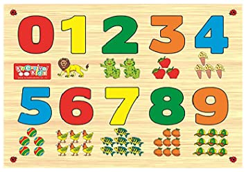 Zitto Premium Wooden Counting 0-9 Educational Puzzle Toy