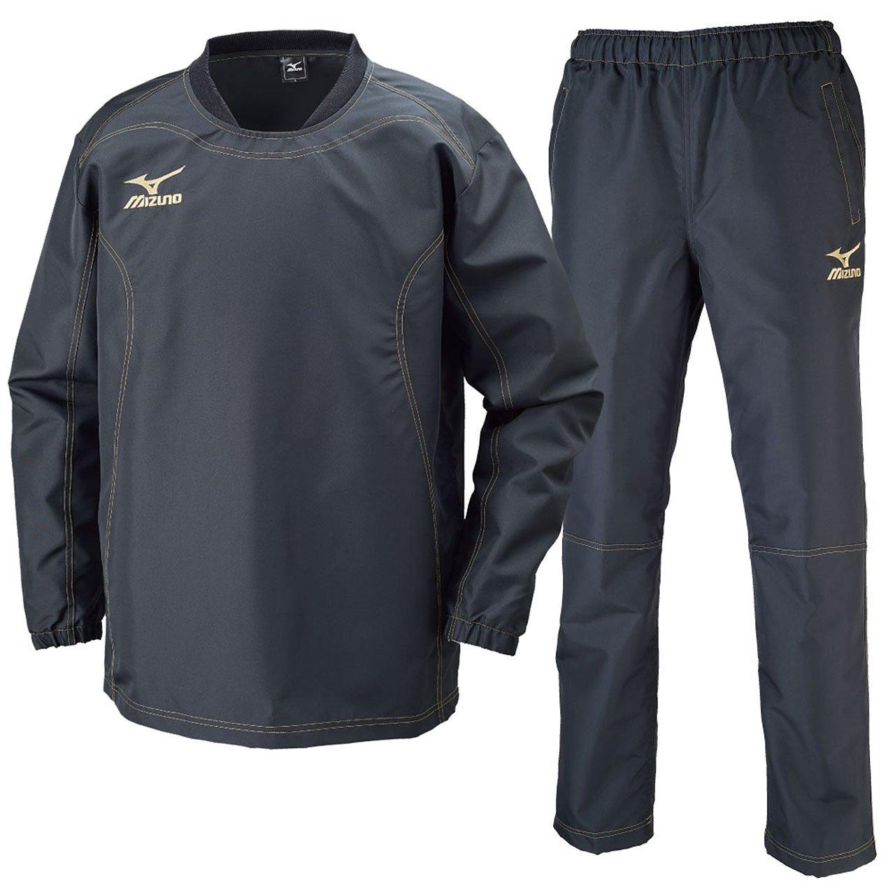 ミズノ(MIZUNO) タフブレーカーシャツ&パンツ 上下セット(ブラック/ブラック) R2ME6002-09-R2MF6002-09 B071JXHYG8 ブラック/ブラック 2XL