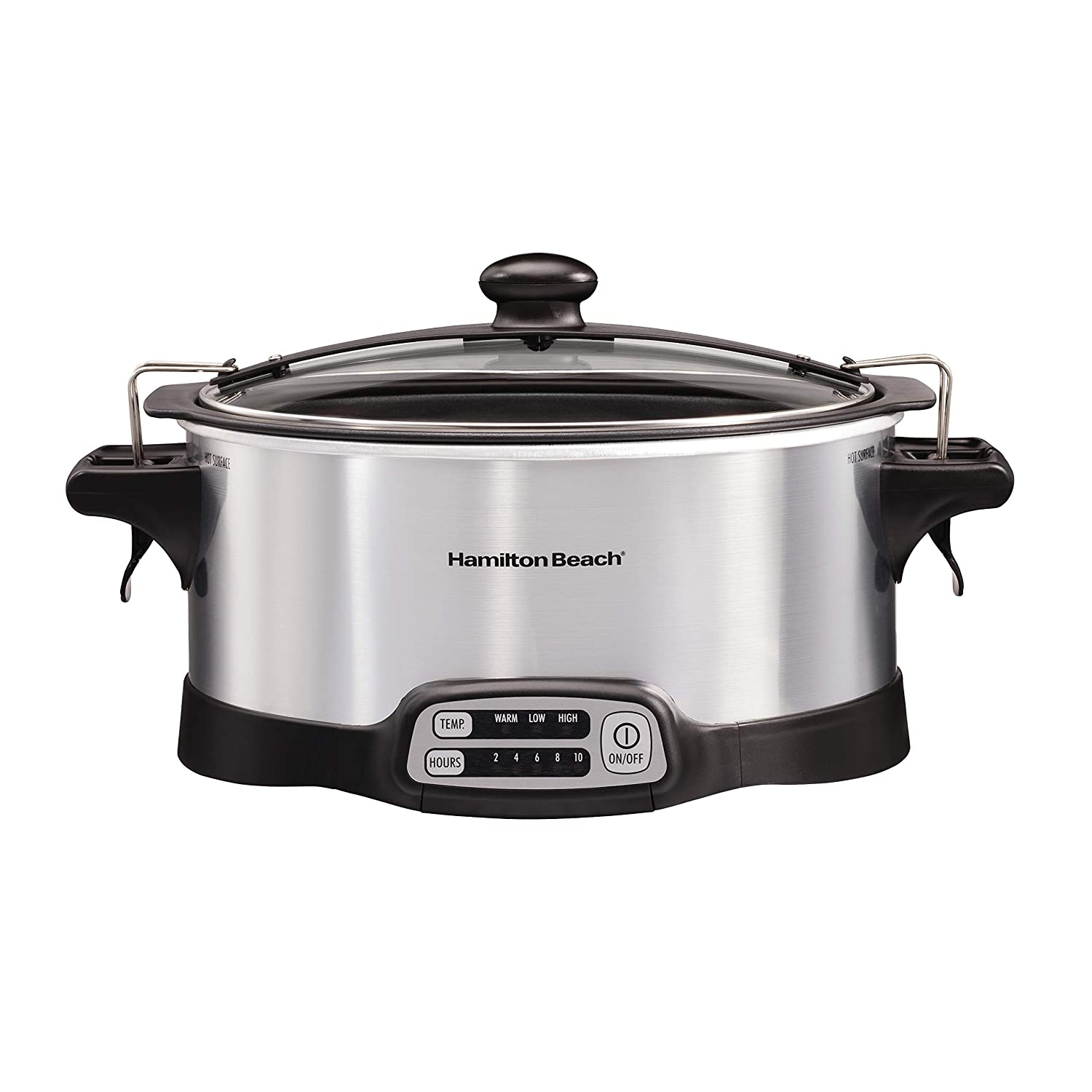 Hamilton Beach 33663 Stay or Go Stovetop Sear & Cook Slow Cooker 6 quart Capacity Stainless Steel