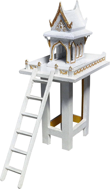 Wilai Fantasma hogar Buda Templo con Escalera Blanco/Oro 1,3 m Tailandia Fantasma Casa Feng Shui Altar: Amazon.es: Juguetes y juegos