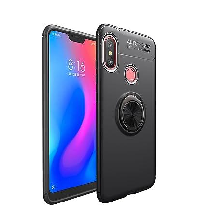 on sale 91d05 cc167 XiaoMi Mi A2 Lite/Redmi 6 Pro Case, Premium TPU Bumper Ultra Slim Fit  Flexible Phone Case Cover, Metal 360 Degree Swivel Magnetic Ring Buckle for  ...