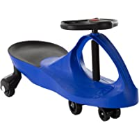 Ride On Car, No Batteries, Gears or Pedals, Uses Twist, Turn, Wiggle Movement to Steer Zigzag Car-Blue, for Toddlers…