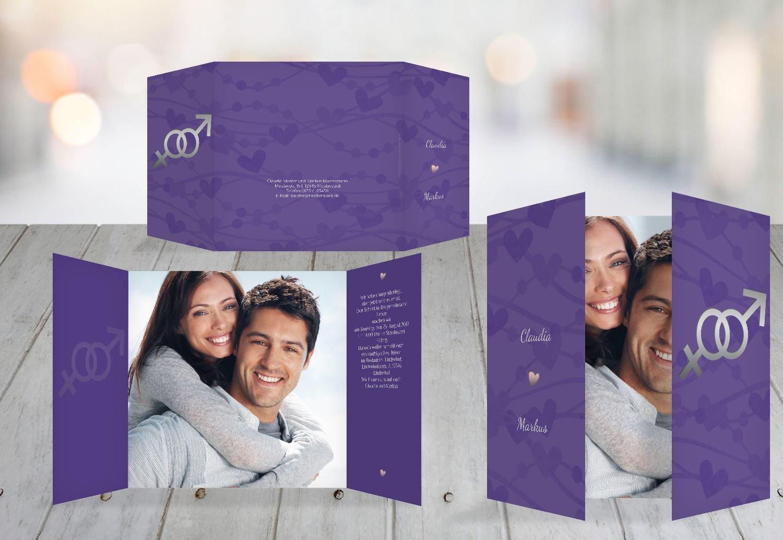 Kartenparadies Hochzeitskarte Einladung Im Zeichen der Liebe, hochwertige Einladung zur Heirat inklusive Umschläge   10 Karten - (Format  145x145 mm) Farbe  DunkeltiefBlau B01N7UEYGV | Auktion  | Rich-pünktliche Lieferung  | München