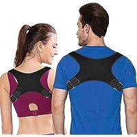 Corrector de Postura corrección de Postura de Espalda para Mujeres Hombres, alivio de el dolor de espalda, hombros y cuello Faja ajustable para Postura de Espalda, Hombro y Cuello
