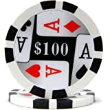 Trademark Poker Premium 4 Aces 100 Poker Chips, 11.5gm