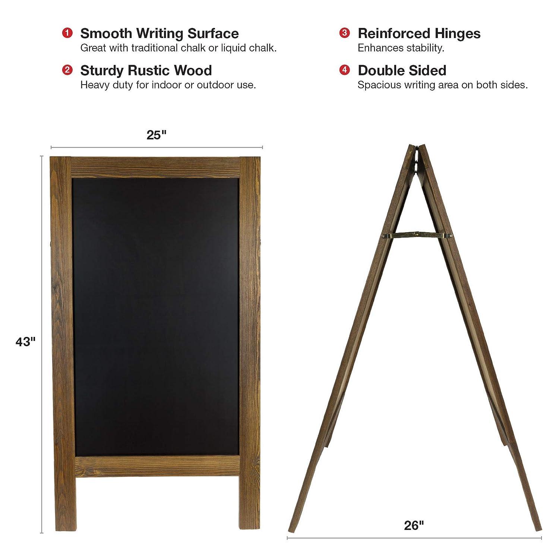 Amazon.com: Tizarra de madera extra grande, robusta hecha a ...