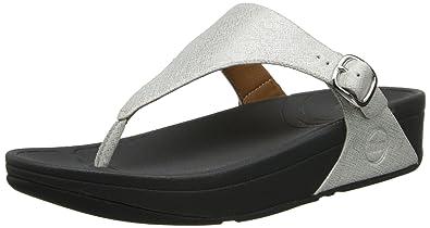 c80331efea3f1 FitFlop Women's The Skinny Deluxe Flip Flop, Silver, 8 M US: Buy ...