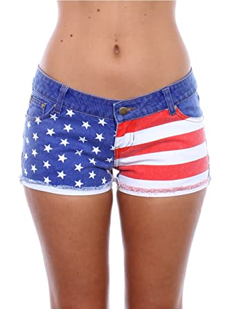 Women's USA American Flag Denim Shorts at Amazon Women's Clothing ...