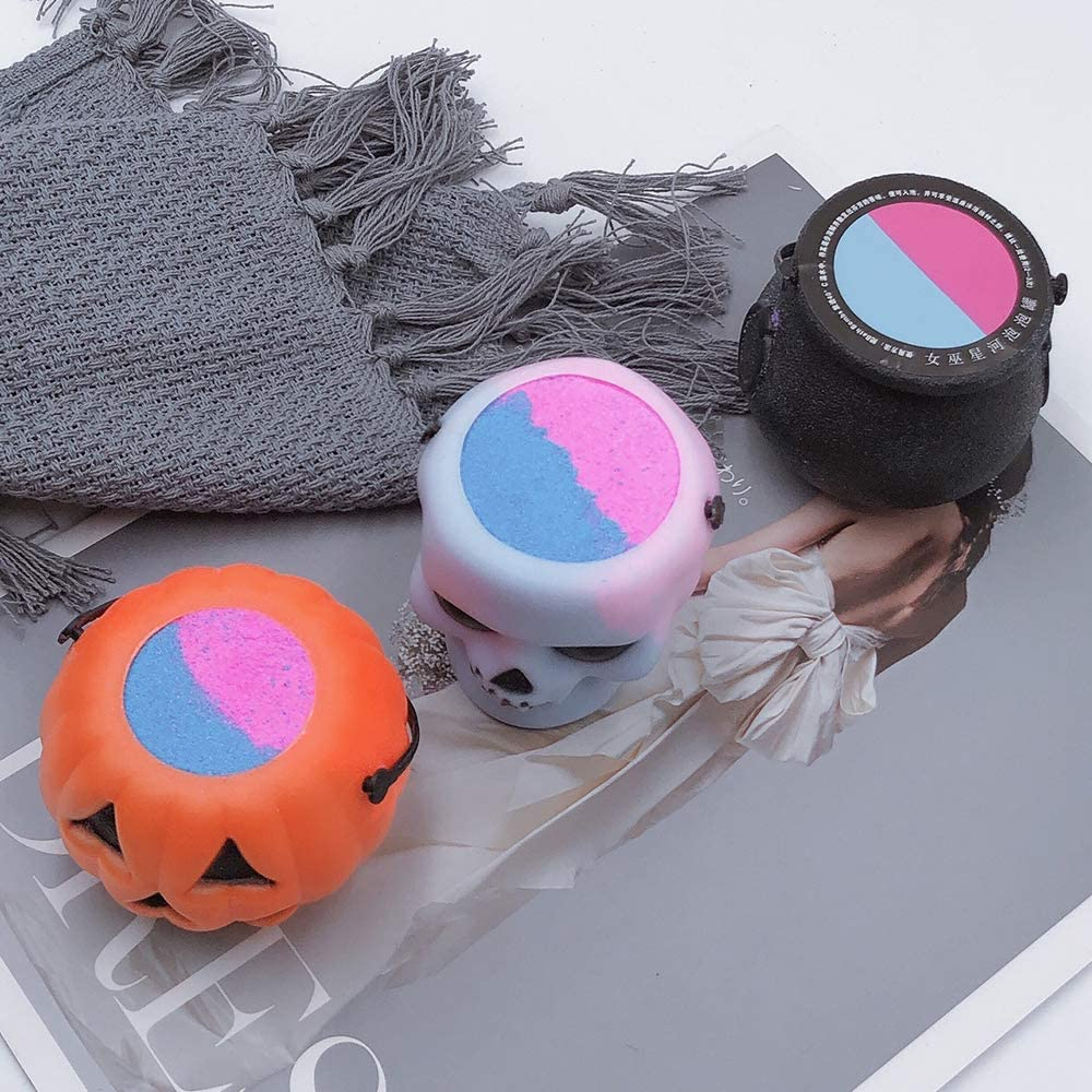 sea salt essential oil is rich in foam very suitable for spa or bubble bath ladies or children shower gifts Pumpkin//skull//witch pot bubble bath ball
