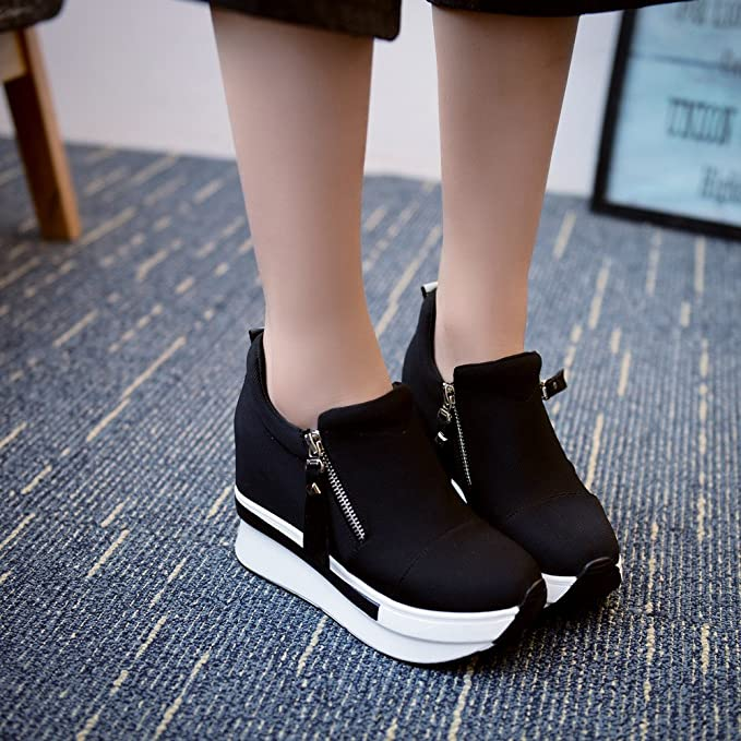 62cf43d83acf Amazon.com  Women s Girls Fashion Sneakers Thick-Soled Increase Shake Platform  Shoes for Sports Running Hiking  Clothing