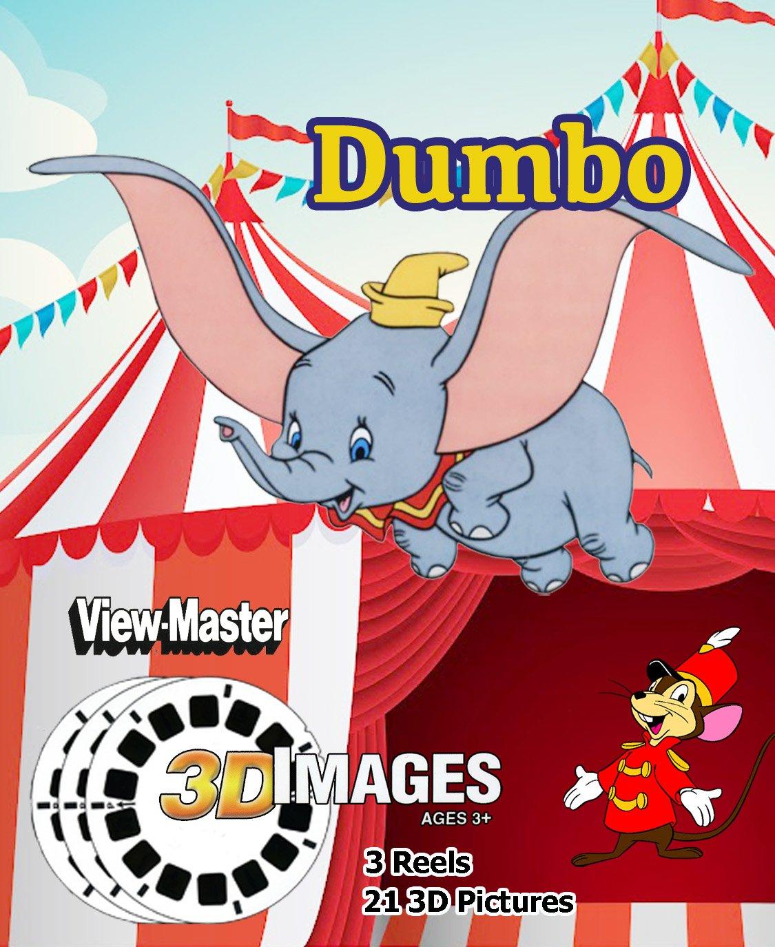Disney's Dumbo - Classic ViewMaster Cartoon - 3 Reel Set - 21 3D Images