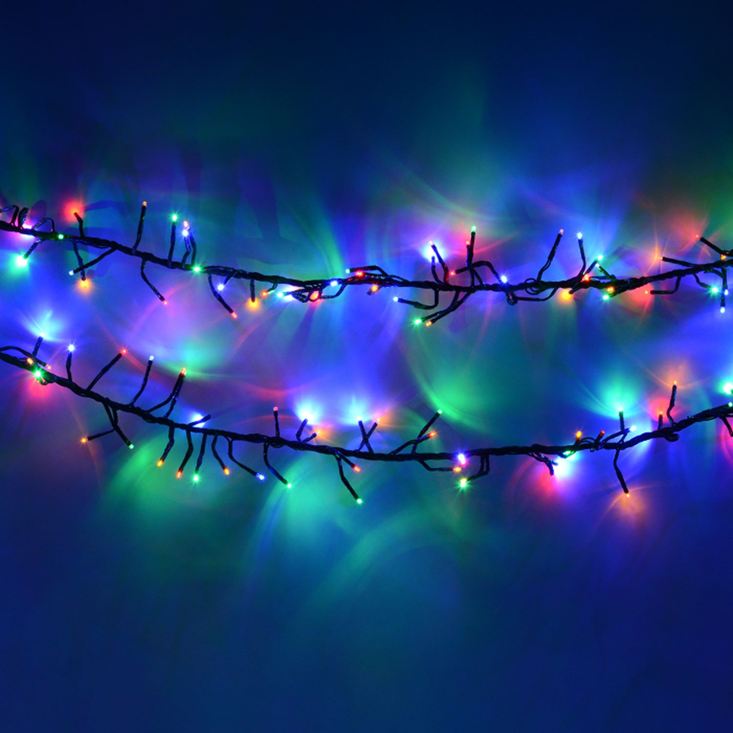Multi Colour 720 Led Cluster Christmas Lights Kitchen Wiring Diagram Of X Mas Home