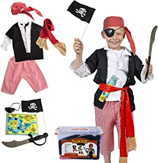 Pirate Costume Kids - Pirate Costume Accessories - Dress Up Clothes With Case by Tigerdoe  sc 1 st  Amazon.com & Amazon.com: US Toy Kids Pirate Costume: Toys u0026 Games