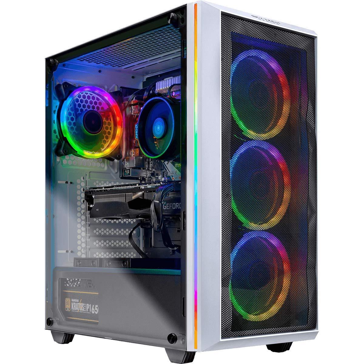 Skytech Chronos Gaming PC Desktop - AMD Ryzen 7 3700X, NVIDIA RTX 2070 Super 8GB, 16GB DDR4 (2X 8GB), 1TB SSD, B450 Motherboard, 650 Watt Gold