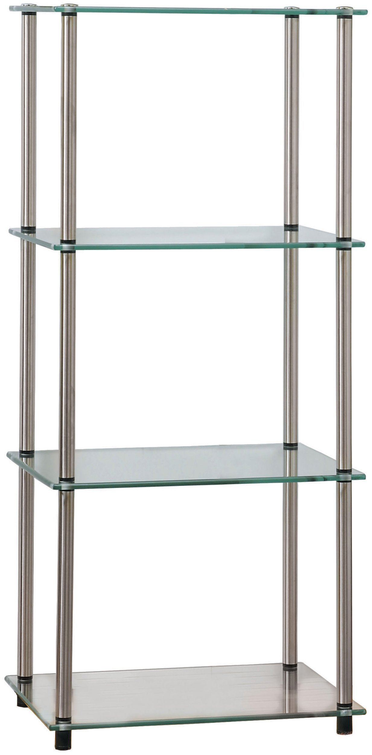 Convenience Concepts Designs2Go Go-Accsense 4-Tier Glass Tower, Clear Glass by Convenience Concepts