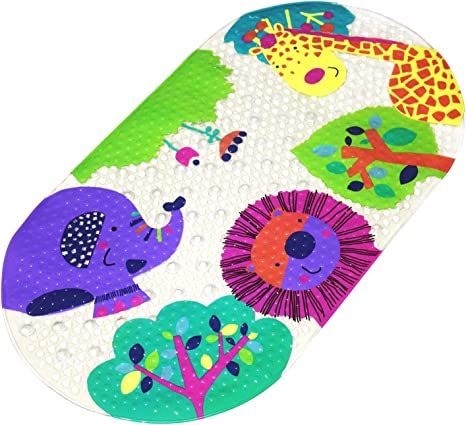 Amazon Com Mocollmax Non Slip Baby Bath Mat Toddler Bathtub Mat Shower Mat With Suction Cups 27 X15 For Babies Toddle Cute Animal Home Kitchen