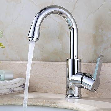 Homelody 360 Drehbar Mischbatterie Chrom Wasserhahn Küche Bad Armatur Küchenarmatur Waschbeckenarmatur