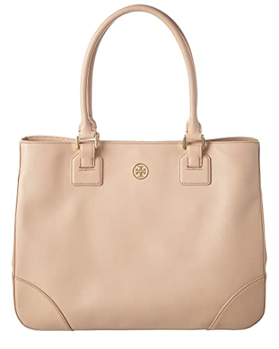 9d940502b924 Ladies Tory Burch Robinson Saffiano Leather Tote Bag Dark Sahara (pale Pink)  Medium Handbag RRP £495  Amazon.co.uk  Shoes   Bags